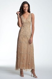 Pisarro Nights V-Neck Beaded Sequin Gown, from nordstrom.com