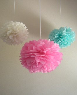 Pompoms, by PrettywithSprinkles on etsy.com