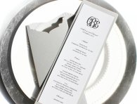 Printable reception menus, by TheMemoryTrunk on etsy.com