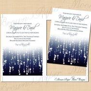 Printable wedding invitations, by BrownPaperMoon on etsy.com
