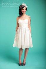 Reception dress, by AmandaArcher on etsy.com