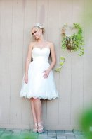 Reception dress, by TheLittleWhiteDress on etsy.com
