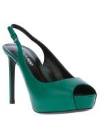 Saint Laurent slingback peep-toe heels, available at farfetch.com