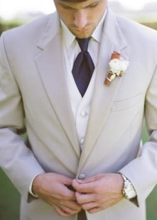 Taupe suit