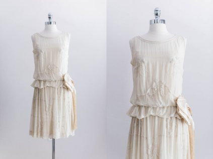 Vintage authentic 1920s dress, by EmmelineChic on etsy.com