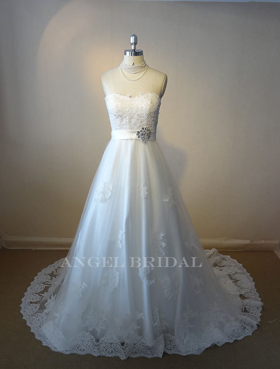 Wedding dress by angelbridal on the merry bride for Etsy dresses for weddings