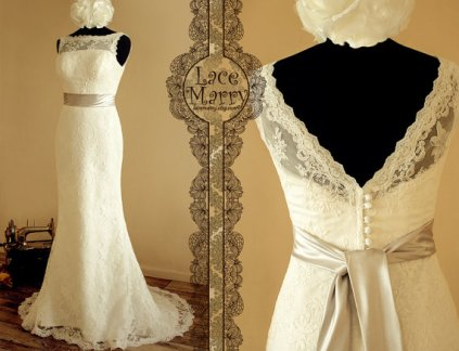 Wedding dress, by LaceMarry on etsy.com