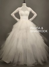 Wedding dress, by pandaandshamrock on etsy.com
