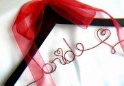 Wedding dress hanger, by HandmadeAffair on etsy.com