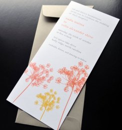 Wedding invitation, by crescentmoonpaper on etsy.com