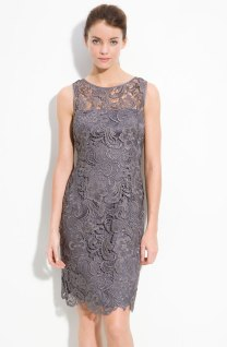 Adrianna Papell Illusion Bodice Lace Sheath Dress, from nordstrom.com