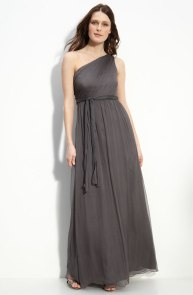 Amsale One Shoulder Chiffon Gown, from nordstrom.com