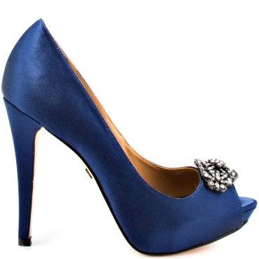 Badgley Mischka 'Goodie' navy heels, from heels.com