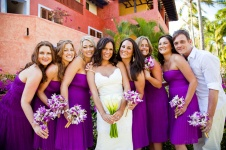 Bridesmaids in purple {via colorgown.com}