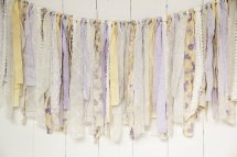 Burlap, lace and linen 'rag bunting', by EleganceProps on etsy.com