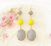 Earrings, by silverliningdecor on etsy.com