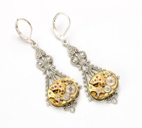 Earrings, by VictorianCuriosities on etsy.com