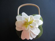Flower girl basket, by ArtisanFeltStudio on etsy.com