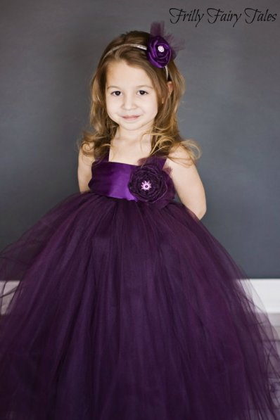 Flower girl dress, by FrillyFairyTales on etsy.com