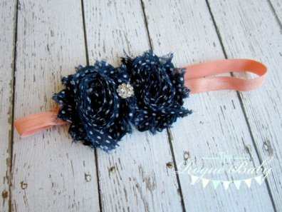 Flower girl headband, by TheRogueBaby on etsy.com