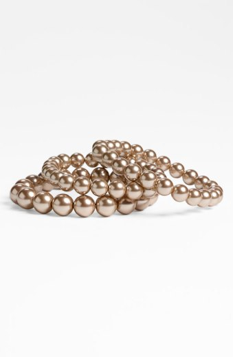 Givenchy 'Kalahari Pearl' Stretch Bracelets (Set of 3), from nordstrom.com
