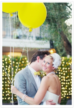 Grey and yellow wedding {via 100layercake.com}