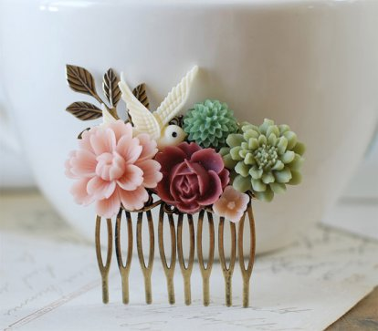 Hair comb, by LeChaim on etsy.com