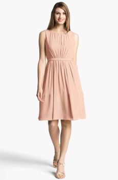 Jenny Yoo 'Charlie' Pleat Chiffon A-Line Dress, from nordstrom.com