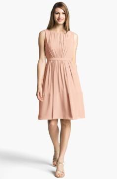 Jenny Yoo 'Charlie' Pleat Chiffon A-Line Dress, from nordstrom.com