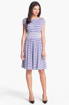 kate spade new york 'leora' chevron stripe cotton dress, from nordstrom.com