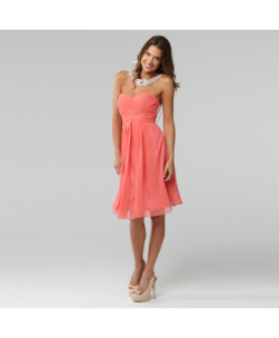 Langhem Mona Lisa Coral Strapless Dress, from swishclothing.com.au