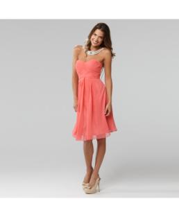 Langhem Mona Lisa Coral Strapless Dress, from swishclothing.com.au