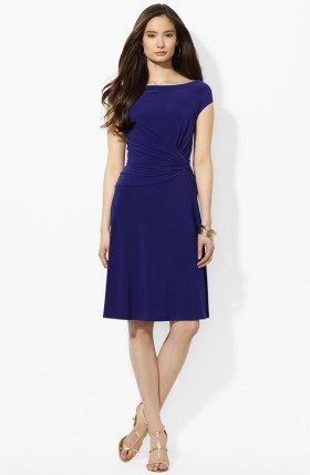 Ralph Lauren Knotted Matte Jersey A-Line Dress, from nordstrom.com