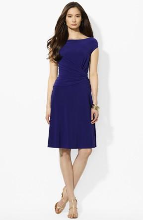 Ralph Lauren Knotted Matte Jersey A-Line Dress, from nordstrom.com