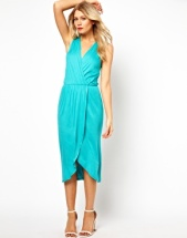 Love Midi Dress with wrap front, from asos.com