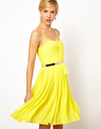Mango Chiffon Drape Bustier Dress, from asos.com