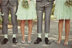 Mint and grey bridal party {via bridesmaid.com}