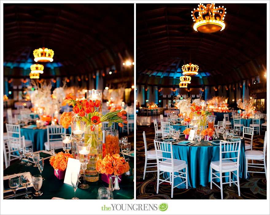 Teal And Orange Wedding The Merry Bride