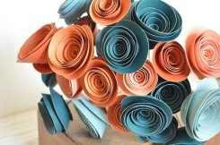 Paper flowers, by lillesyster on etsy.com