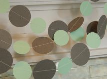 Paper garland, by anyoccasionbanners on etsy.com