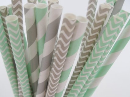 Paper straws, by CreativeJuiceCafe on etsy.com