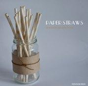 Paper straws, by theStationeryRoom on etsy.com