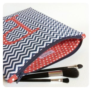 Personalised makeup bags (bridesmaid gift), by AlexAndRiaBaby on etsy.com
