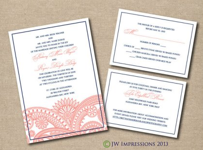 Printable wedding invitation, by JWImpressions on etsy.com