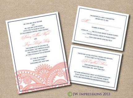 Printable wedding invitation, by JWImpressions on etsy.com