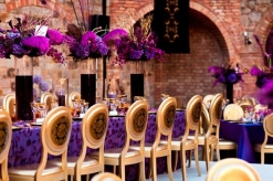 Purple and gold reception {via bellethemagazine.com}