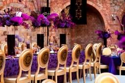 Purple and gold reception {via bellethemagazine.com}