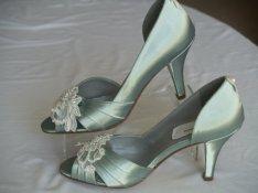 Sage heels, by NewBrideCo on etsy.com