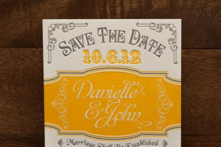 Save the date, by tweedlepress on etsy.com