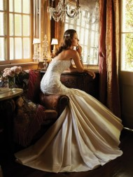 Sophia Tolli gold wedding gown
